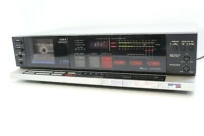 AIWA AD-F660 Vintage 3 Head Cassette Tape Deck In Silver ** SERVICED ** • 295£