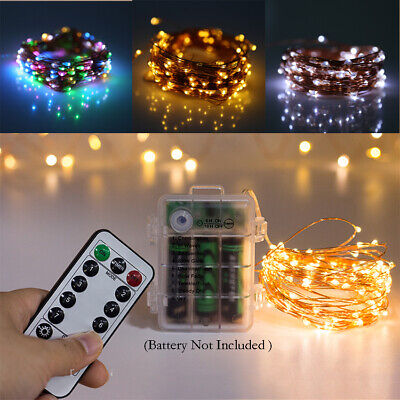LED Battery Fairy String Lights Micro Outdoor Xmas Remote Control Wedding Party • 5.82£