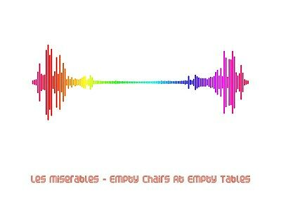 £7.99 • Buy Les Miserables - Empty Chairs At Empty Tables - Rainbow Soundwave Poster A4 Size