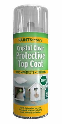 3x 400ml Crystal Clear Spray UV Proof Protective Top Coat Gloss Quick Drying New • 11.95£
