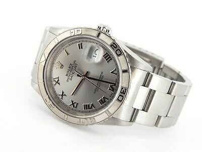 $ CDN7429.36 • Buy Rolex Datejust Mens Stainless Steel Thunderbird Turn-O-Graph Oyster Roman 16264