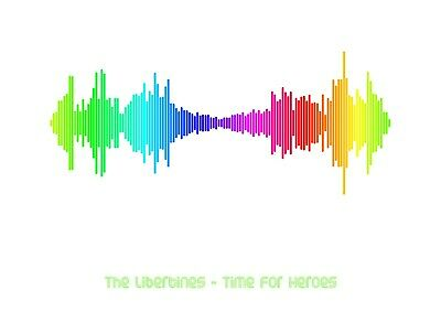 £7.99 • Buy The Libertines - Time For Heroes - Rainbow Soundwave Poster - A4 Size