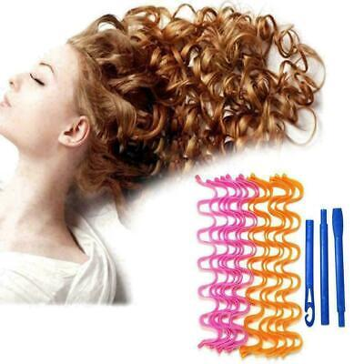 12Pcs 30/50cm Magic Long Hair Curlers Curl Formers Leverage For Home Salon DIY • 6.49£