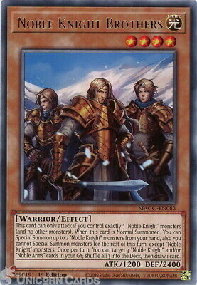 £1.45 • Buy MAGO-EN083 Noble Knight Brothers Rare 1st Edition Mint YuGiOh Card