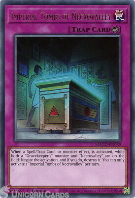 MAGO-EN089 Imperial Tombs Of Necrovalley Rare 1st Edition Mint YuGiOh Card • 0.99£
