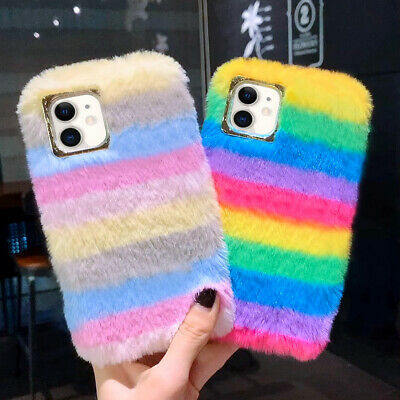 £5.69 • Buy Soft Plush Faux Fur Shockproof Phone Case Cover For IPhone 12 11 Pro SE XR 7 8+