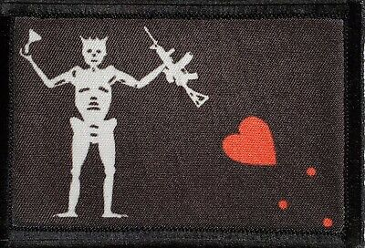 $7.99 • Buy Blackbeard AR15 Pirate Flag Morale Patch Tactical Military Army USA Badge