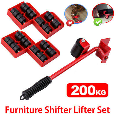 AU17.59 • Buy Heavy Furniture Moves Shifter Lifter Wheels Moving Kit Slider Mover Table Tool