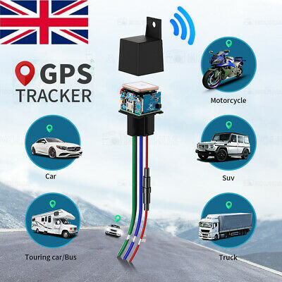 Auto Car Tracking Relay GPS Tracker Device GSM Locator Remote Control Anti-theft • 14.89£