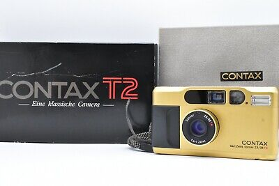 $ CDN1372.73 • Buy [Near Mint In Box] Contax T2 Gold Point & Shoot 35mm Film Camera From JAPAN #116
