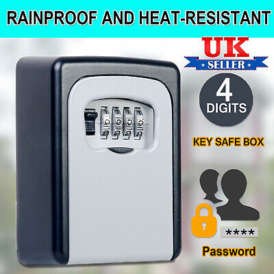 Outdoor High Security Wall Mounted Key Safe Box Code Lock Storage 4 Digit UK NEW • 11.59£