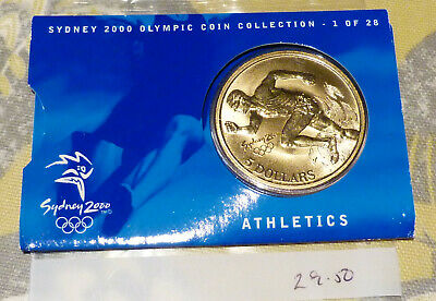 Sydney 2000 Olympic Coin Collection, $5 UNC RAM Coin - ATHLETICS 1/28 (29.50) • 5£