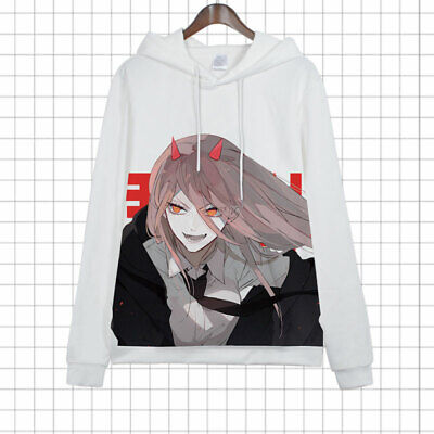 £19.54 • Buy Anime Chainsaw Man Cosplay Pullover Hooded Jacket Unisex Coat Long Sleeve Tops#2