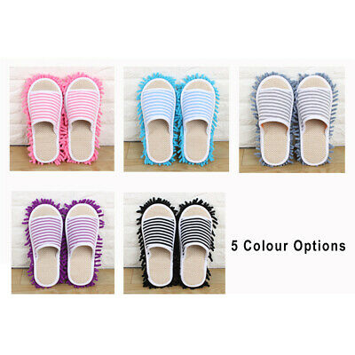 UK 1Pair Home Cleaning Mop Slippers Detachable Lazy Floor Dusting Shoes S/M/L JW • 3.39£