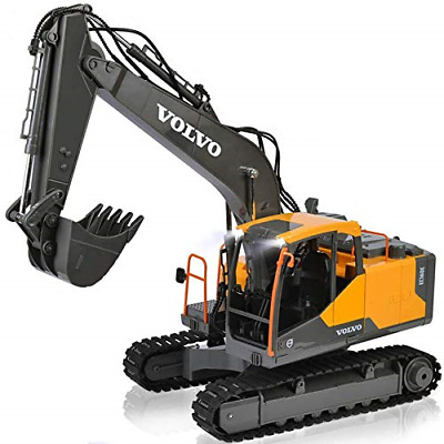 DOUBLE E RC Excavator Construction Truck 17 Channel 1/16 Scale Truck Digger Toy • 100.84£