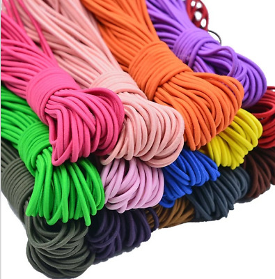$ CDN16.57 • Buy 10m 5mm Color Round Elastic Band Clothing Accessories