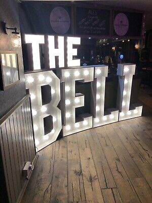 4ft High Illuminated Marquee Style Letter/Number • 140£