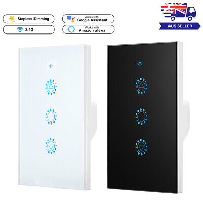 AU37.99 • Buy Wifi Dimmer Switch Smart Touch Wall Light Panel Work With Alexa Google Home AU