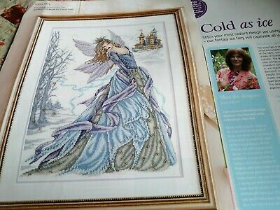 Cross Stitch Chart  Snow Fairy Castle Winter Lady Chart Only Joan Elliott • 4.99£