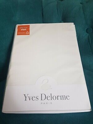 Yves Delorme WHITE King Size Fitted Sheet BNIP   • 99£