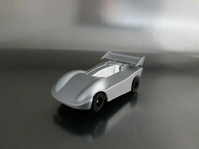 Micro Scalextric Car Rare Working Glossy Silver Race Car 1:64  Free Postage • 14£