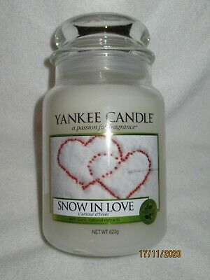 Yankee Candle    SNOW IN LOVE   Large Jar 623g ~ Free Post • 21.99£