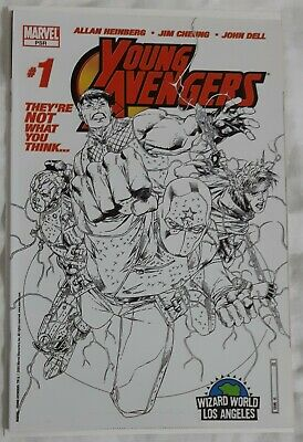 Young Avengers #1 Wizard World LA Sketch Variant 1st App Kate Bishop Wiccan Kang • 199.99£