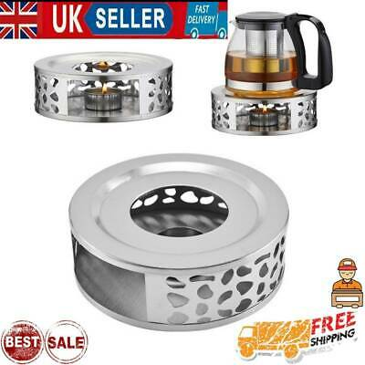 Stainless Steel Candle Round Base Heater Coffee Tea Teapot Light Warmer Holder Q • 7.49£
