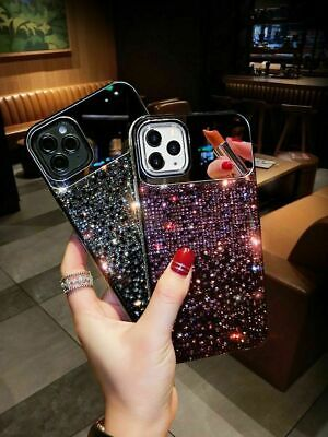 Diamond 3D Bling Mirror Case For IPhone 12 Mini 11 Pro Max X XR XS 8 Phone Cover • 5.69£