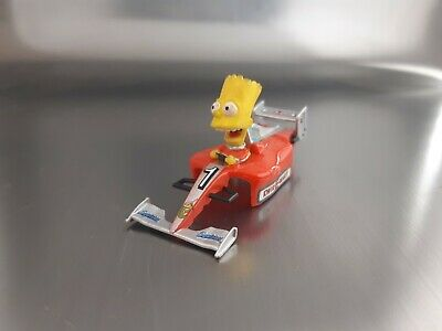 Micro Scalextric Bart Simpsons Kwik-E-Mart F1 Car Working COMPLERE With Head1:64 • 13£