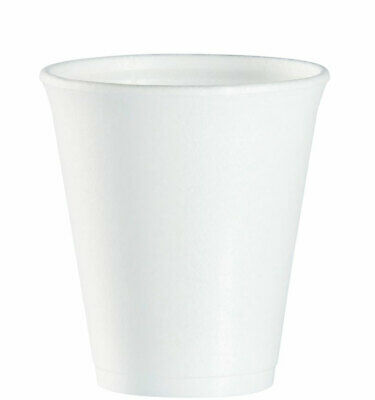 £5.75 • Buy Polystyrene Insulated Cup For Hot Or Cold Drink 8oz 237ml Pack Of 25