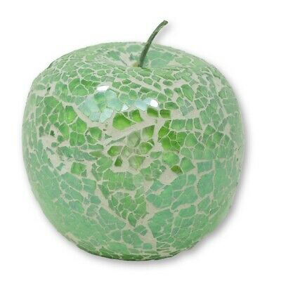 £9.95 • Buy Angraves Mosaic Glass Green Apple Home Decorative Fruit Bowl Display Piece Gift