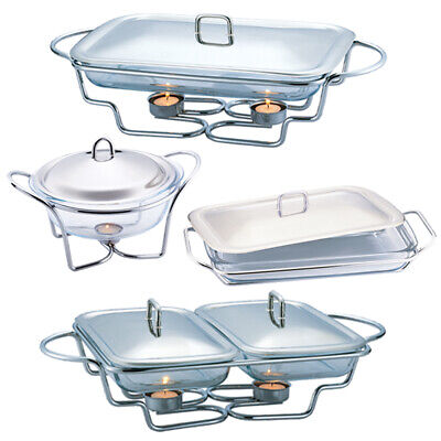 £32.99 • Buy Berlinger Haus Stainless Steel Food Warmer Hot Plate Tray Candle Buffet Server