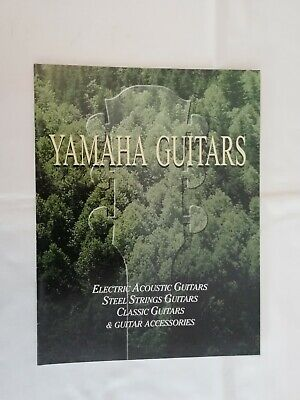 Yamaha Electric Acoustic And Classic Guitars Brochure • 3£