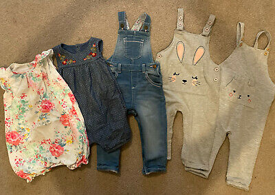 12-18 Months Girls Dungarees And Dresses • 7£