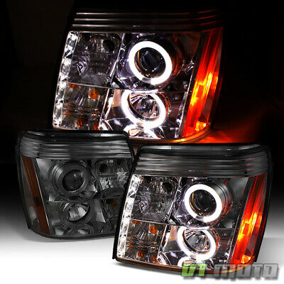 $178.99 • Buy Smoked 2002-2003 Cadillac Escalade Halo Projector Headlights W/Daytime DRL LED