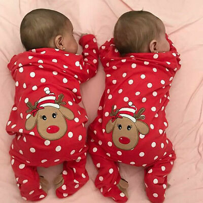 My First Christmas Infant Baby Boys Girls Romper Top Pants Kid Outfit Clothes UK • 8.99£