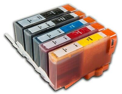 £7.35 • Buy 5 Chipped Ink Cartridges Fits For Hp 364XL Photosmart 5510 3520 5520 5524 7510