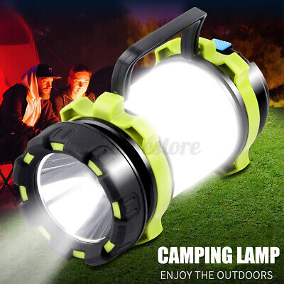 AU24.99 • Buy Rechargeable Camping Lantern Outdoor Tent Light Flashlight Lamp Power For Phone