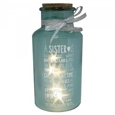 Special Sister Light Up Jar Messages Of Love Gift Range Birthday Christmas Gifts • 9.99£