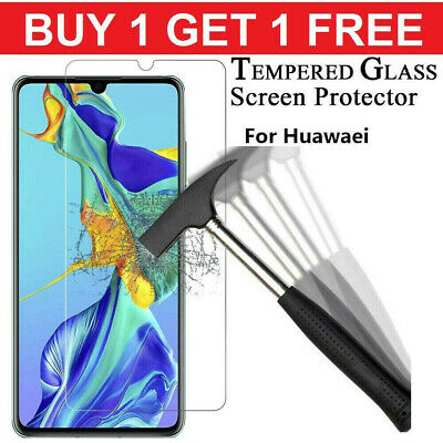 FOR Huawei P20 P30 P40 Pro Lite P Smart Y6 2019 Tempered Glass Screen Protector • 1.99£
