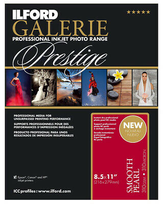 ILFORD GALERIE Prestige Smooth Pearl 8.5 X 11  Inkjet Photo Paper 250 2001753 • 104.88£
