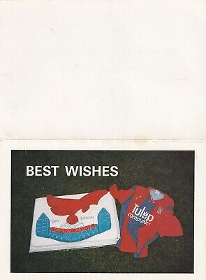 Crystal Palace Happy Birthday Card Cake & Shirt Signed By Steve Coppell 1991 • 4£