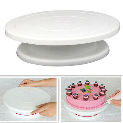 28cm Kitchen Cake Decorating Icing Rotating Turntable Display Stand Revolving • 7.99£