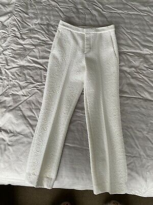 AU250 • Buy Scanlan Theodore Cropped White Tailored Pants Size 6