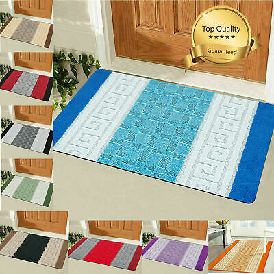 Non Slip Bath Mat Small Large Bathroom Rug Water Absorbent Toilet Pedestal Mats • 10.99£