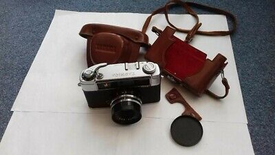 VINTAGE-YASHICA J-35mm CAMERA AND CASE-BROWN • 8.50£