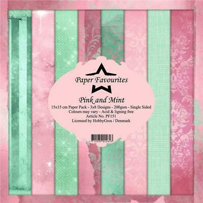 £5.50 • Buy New Dixi Craft  Paper Favourites 15cm X 15cm Paper Pad Pink And Mint