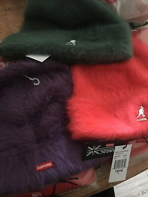 $ CDN149.22 • Buy Supreme Kangol Furgora Beanie Purple FW20 Red Green Fur New Era Cap Hat
