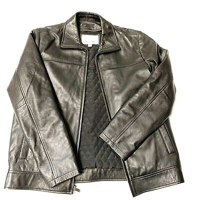 $55 • Buy WILSONS M. JULIAN Leather Experts Jacket Mens Thinsulate LINED Black Zipper M